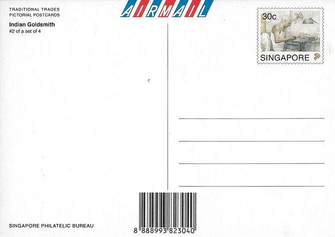 psw postcard2 - Indian Goldsmith - back.