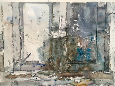 LONG TIME WINDOW, 1989, Watercolour