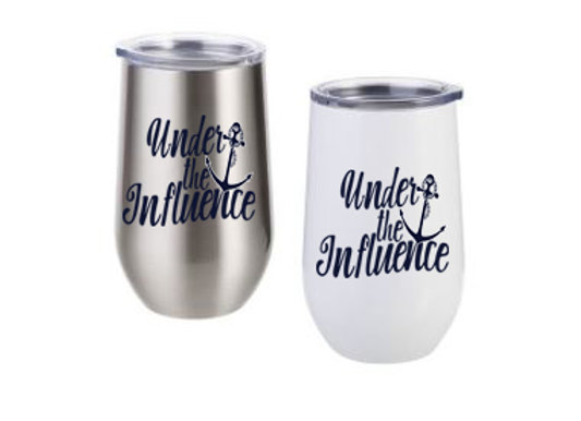 Be Mer-mazing Under the Influence Stainless Steel Stemless Wine Cup - 17 oz.