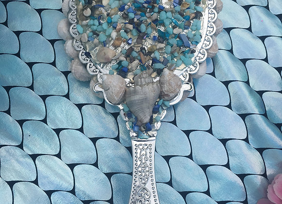 Mermaid shell mirror