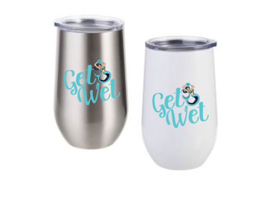 Be Mer-mazing Get Wet Stainless Steel Stemless Wine Cup - 12oz.
