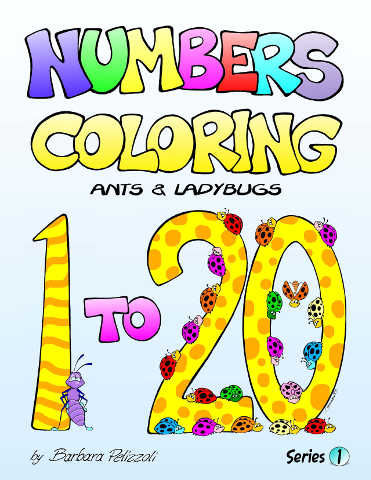 Numbers Coloring Book - Ants and ladybugs - By Barbara Pelizoli