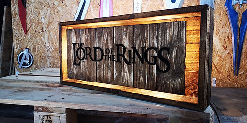 Lord Of The Ring Wood Lamp Sign