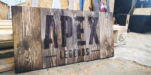 Apex Legends Wood Sign