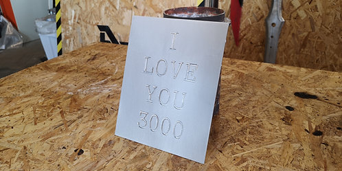 I LOVE YOU 3000 SIGN