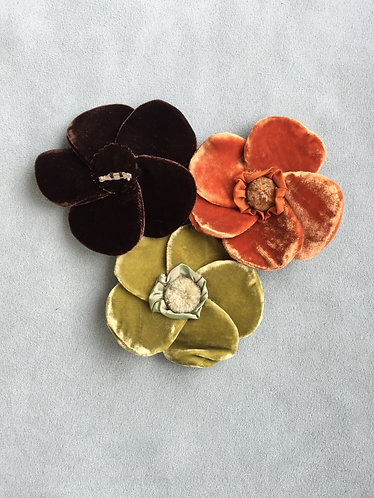 Velvet Flower Brooch