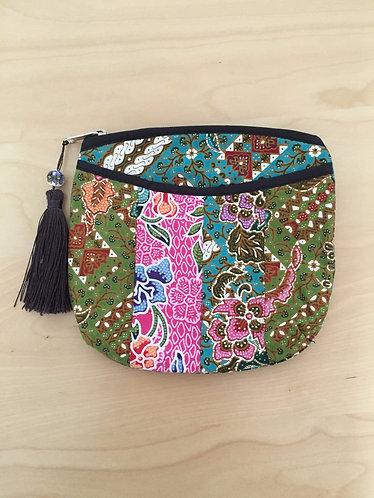 Batik Patchwork Pouch with a Tassle