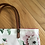 Thumbnail: Fabric Tote Bag with Leather Handles