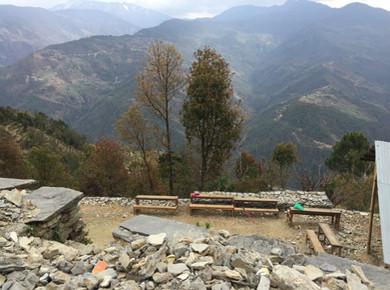 Breathtaking scene 2,000 feets above sea level at Sunkhani, Dolakha in Nepal