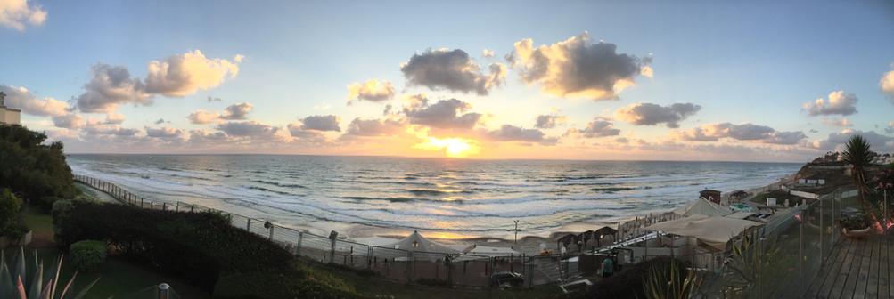 Stunning Mediterranean sunset at Herzliyah, Israel