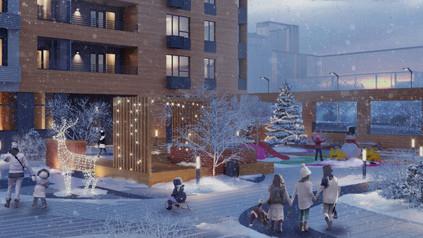 Новый жилой комплекс в городке Металлургов