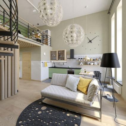 Квартиры с потолком 5 метров и антресолью