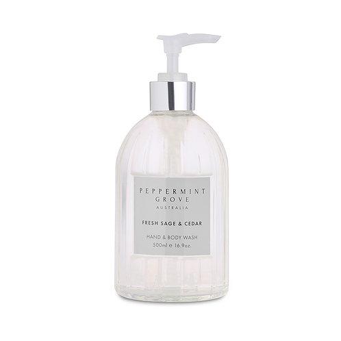 Peppermint Grove Fresh Sage & Cedar Hand & Body Wash 500ml