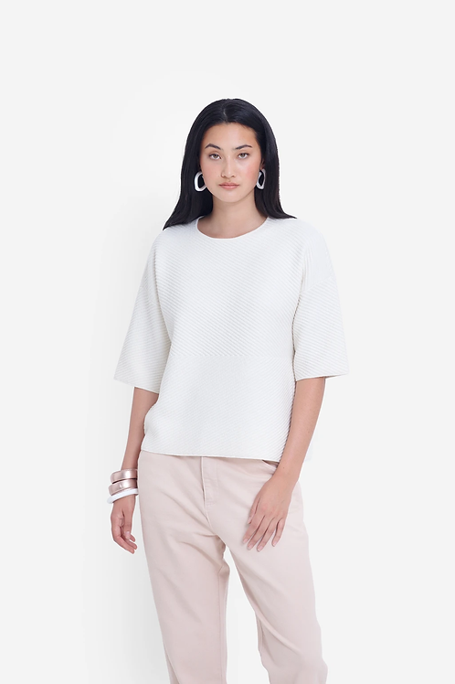 Elk Glenna Knit Top White
