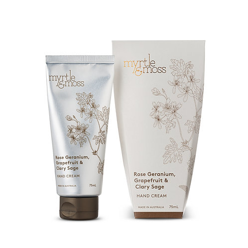 Myrtle & Moss Hand Cream Rose Geranium 75ml