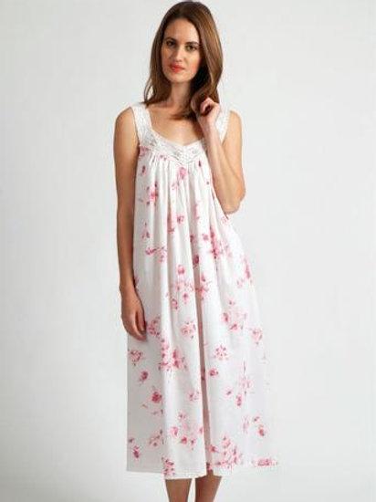 V-Neck Floral Cotton Nightie