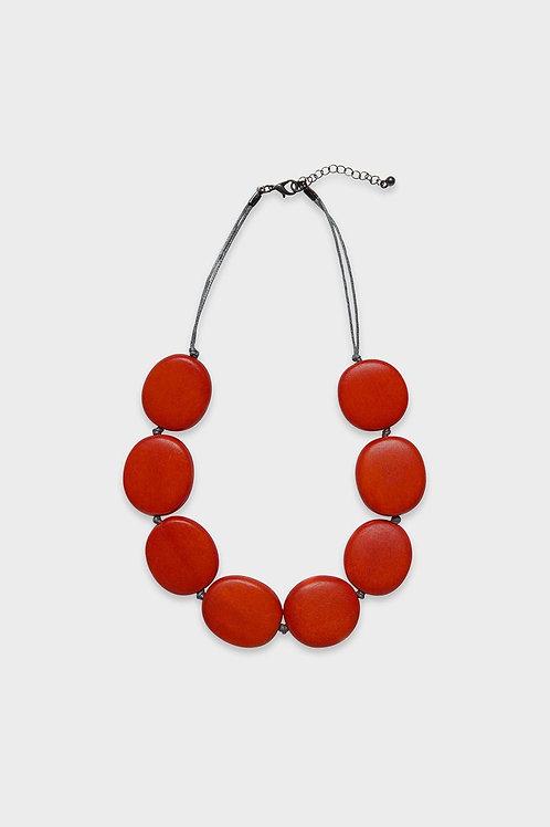 Elk Round Flat Necklace
