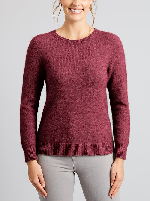 Merino Snug Duffy Sweater Red Violet
