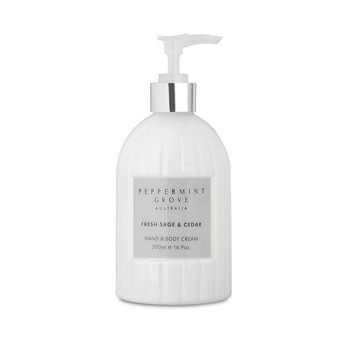 Peppermint Grove Fresh Sage & Cedar Hand & Body Cream 500