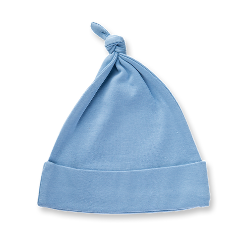 Blue Knotted Baby Hat