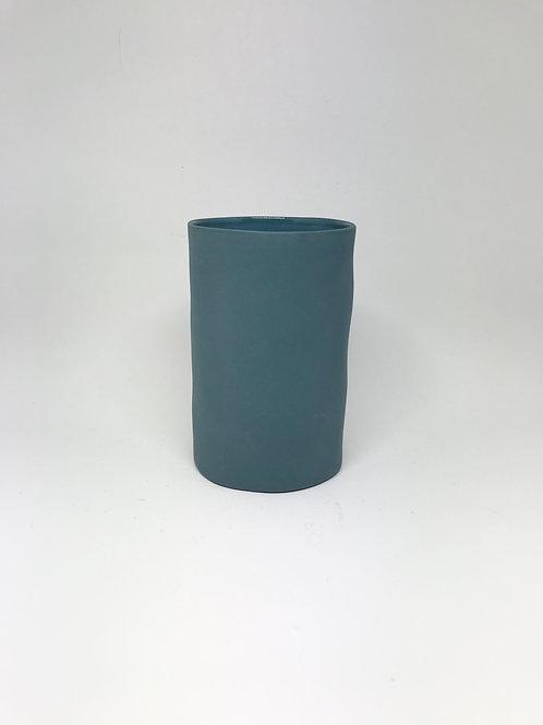 Small Steel Blue Cloud Vase