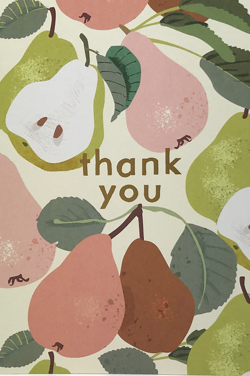 Thank You Card Pears