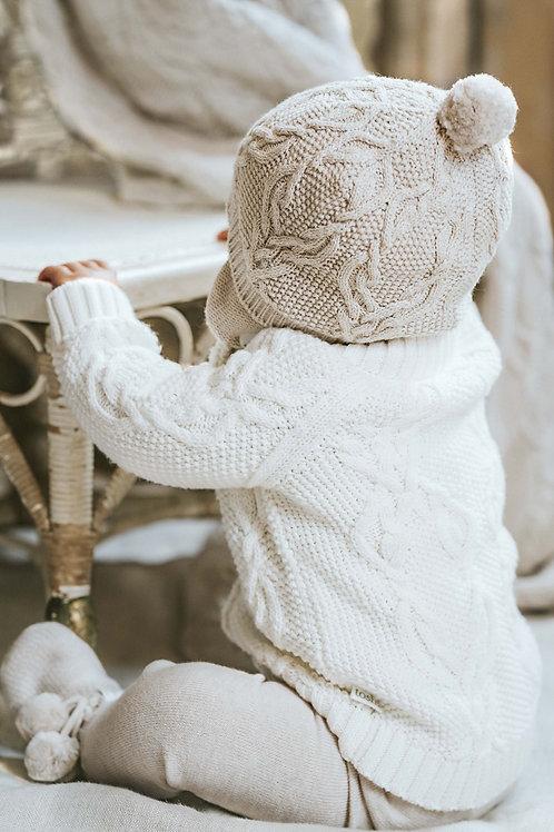 Orangic Cotton Baby Cardigan Cream