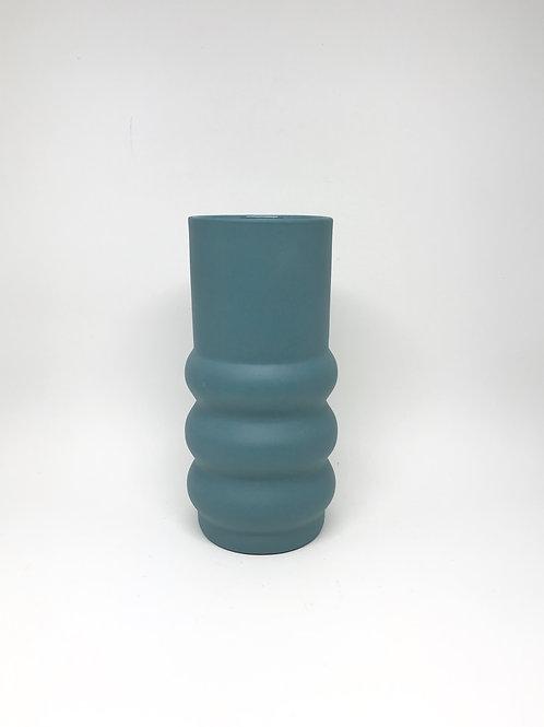 Steel Blue Cloud Vase