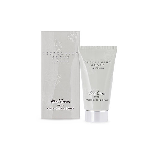 Peppermint Grove Fresh Sage & Cedar Hand Body Cream Tube 75ml