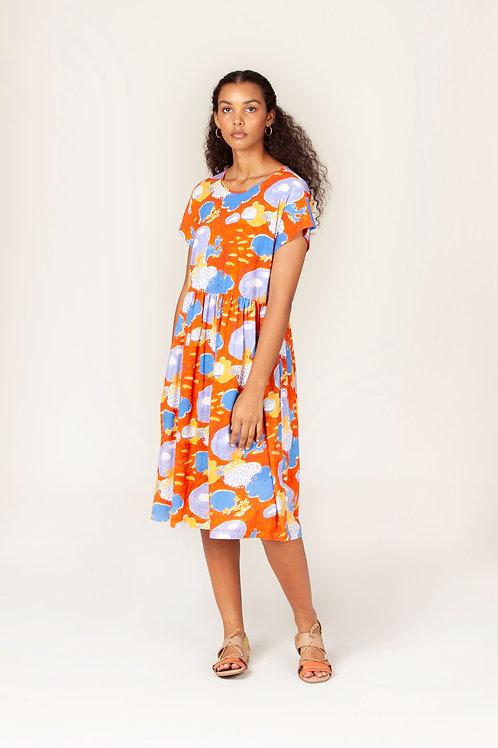 Nancybird Tathra Dress Coral Garden