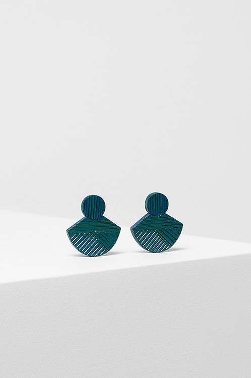Elk Elva Earring Green/Chambray
