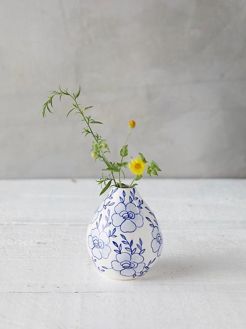 Medium Blue & White Vase