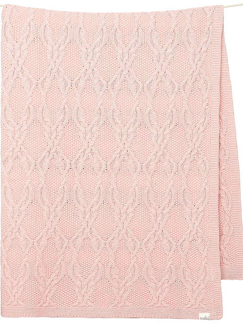 Toshi Organic Bowie Blanket Blush