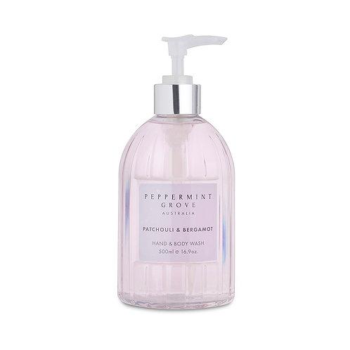 Peppermint Grove Patchouli & Bergamot Hand & Body Wash 500ml