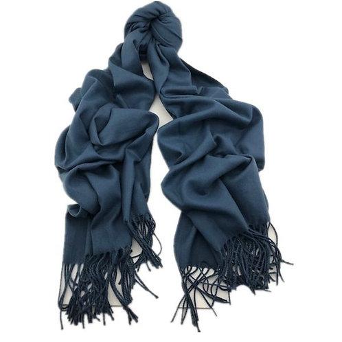 Grey Blue Cashmere Scarf