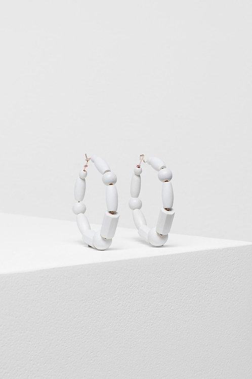 Elk Malu Earrings White