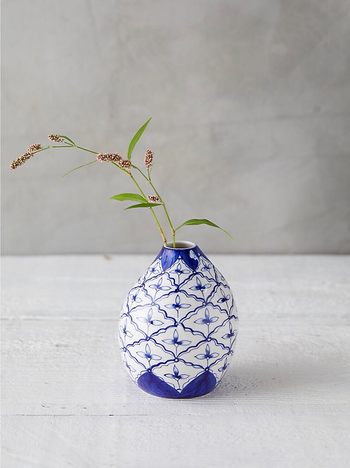 Large Blue & White Vase