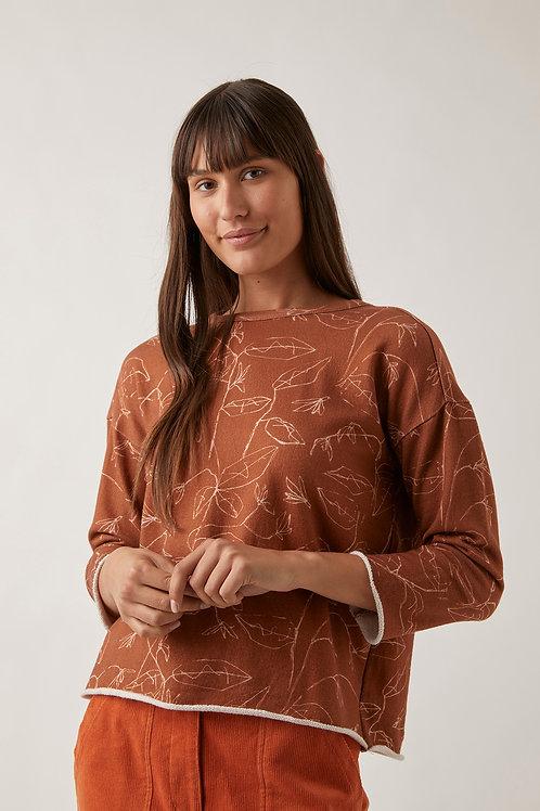 Nancybird Fern Sweatshirt Ochre