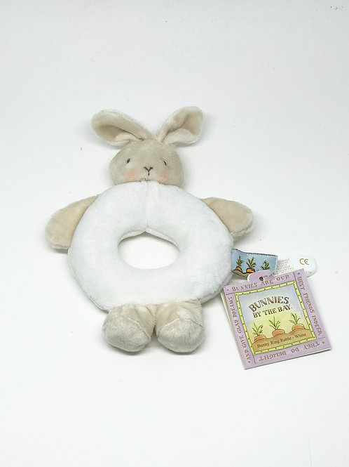 White Bunny Rattle