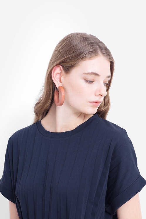 Elk Timber Hoop Earrings