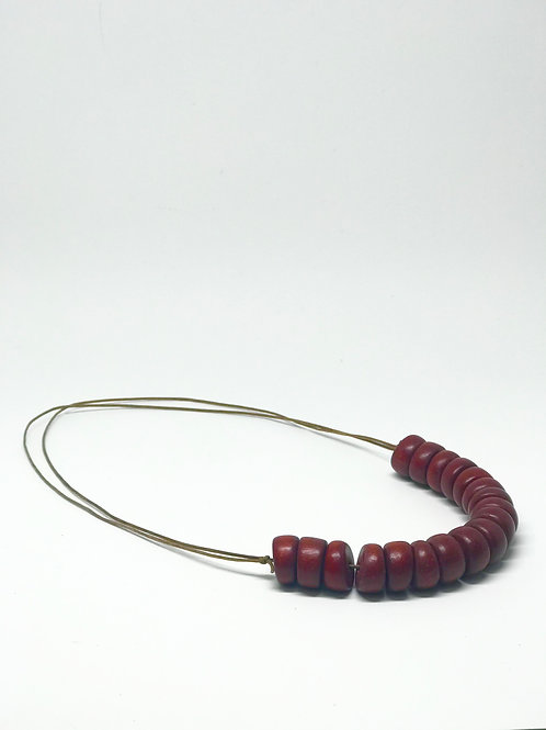 Tambourine Necklace in Cocoa