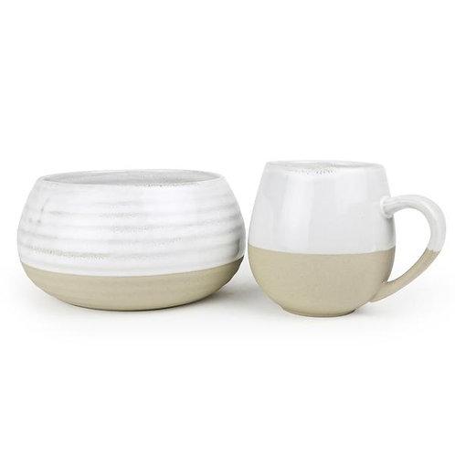 Stoneware Bowl & Mug set