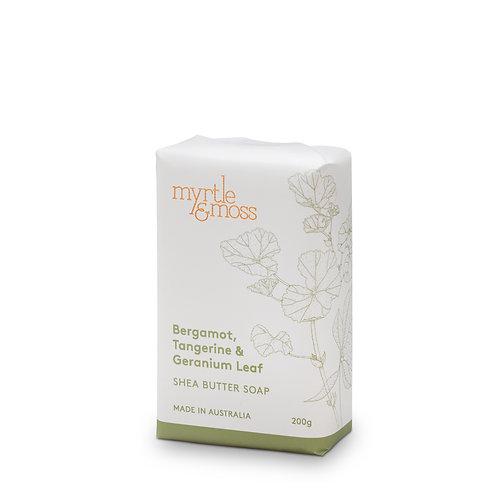 Myrtle & Moss Shea Butter Soap Bergamot, Tangerine and Geranium