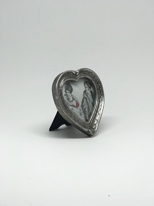 Picture Frame Small Silver Heart