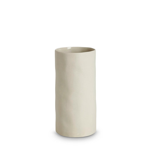 Tall Chalk White Cloud Vase