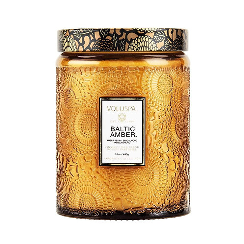 Voluspa Large Baltic Amber 100hr Candle