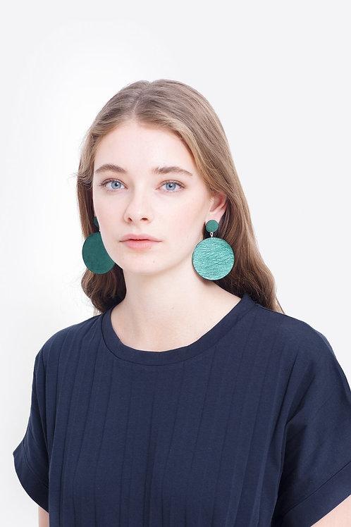 Elk Salla Earrings Metallic Green
