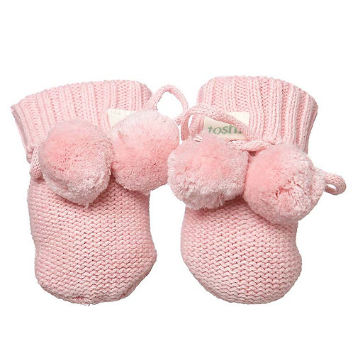Toshi Organic Cotton Booties Cashmere Pink