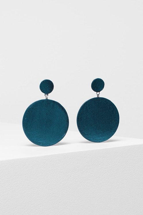 Elk Salla Earrings Metallic Turquoise