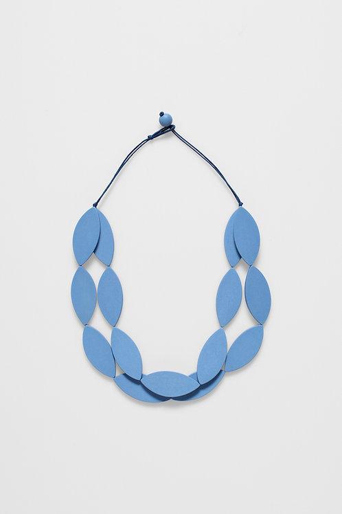 Elk Denim Blue Leaf Necklace